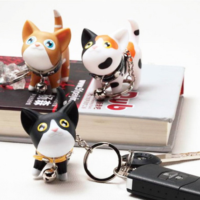 Cute Style Animal Vinyl Toy Lovely Cute Cat Kitten Keychain Gift for friends kids