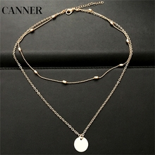 CANNER Gold Color Statement Necklace Luxury Choker Necklaces for Women Classic Fashion Jewelry Best Gifts For Friends R4