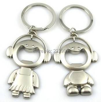 New boys and girls Keychain Keyring Key Chain Lover Romantic Creative Wedding Ceremony Gift Free shipping 100pairs/lot