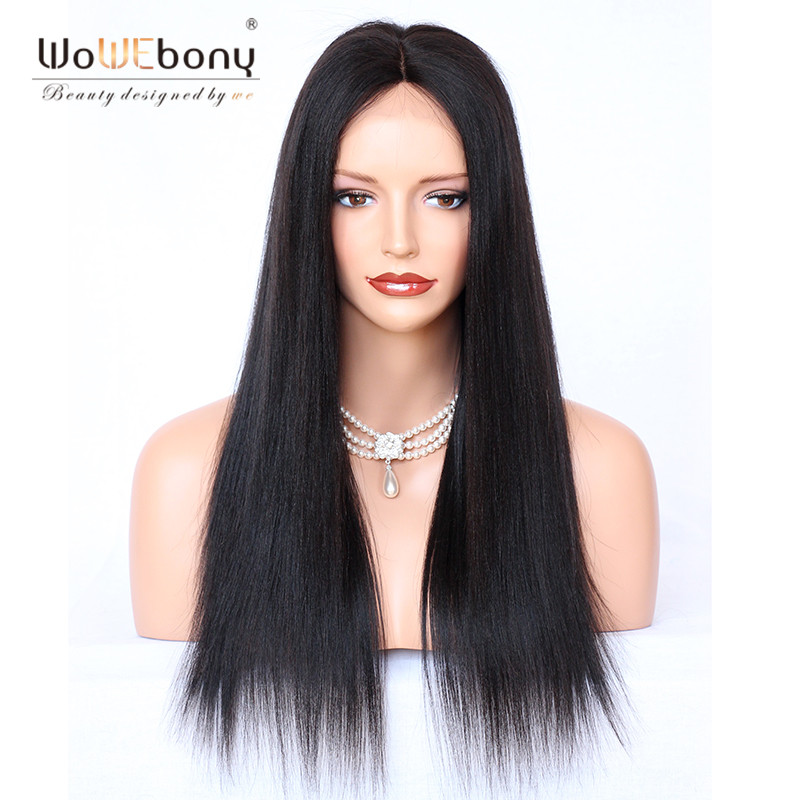 360 Lace Frontal Wig 4.5inch Deep Parting Pre Plucked With Baby Hair Straight Brazilian Lace Front Human Hair Wigs Remy Hair(China)