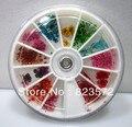 5 ruedas/Lot 2013 de la Nueva Llegada 60 unids/wheel Flores Secas Nail Art Decoraciones de Acrílico + free shipping5wheel