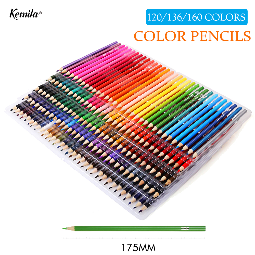 120/136/160 Color Pencils Lapis De Cor Professionals Artist Painting Oil Art Supplier Color Pencil For Drawing Sketch image