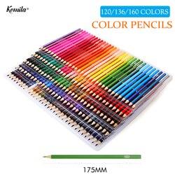 120/136/160 lápices De colores lapisde co profesionales De la pintura del arte al óleo proveedor lápiz De dibujo a Color Sketch