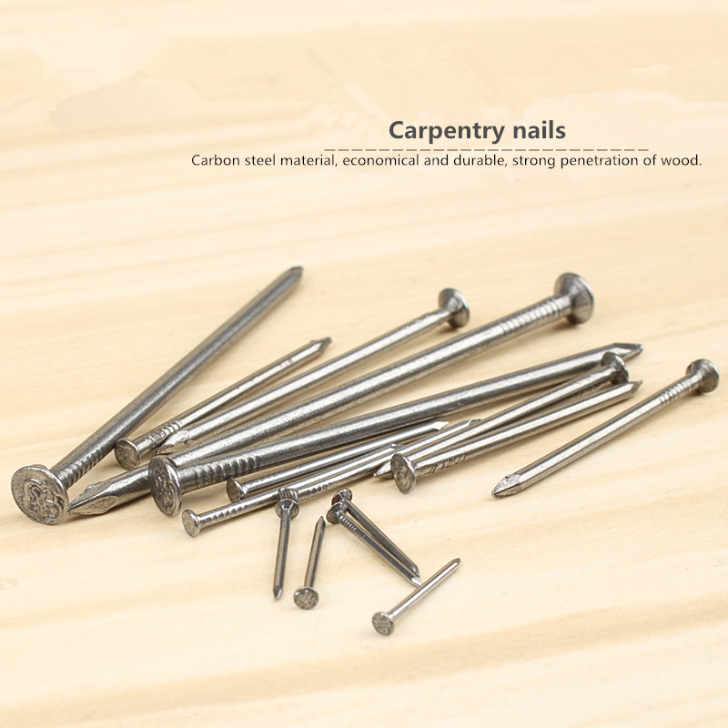 Branch nail carpentry nails round head of household 16-100 - mm boxed handmade wood wood nail toolsBranch nail carpentry nails round head of household 16-100 - mm boxed handmade wood wood nail tools