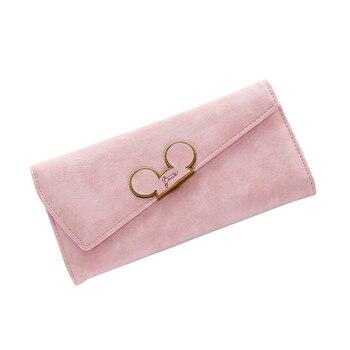 8bcb76ba2 2019 nuevo bolso largo de cuero genuino para mujer, bolso de mano para mujer,  bolso de mano con bolsillo para teléfono, bolso con cremallera para mujer,  ...