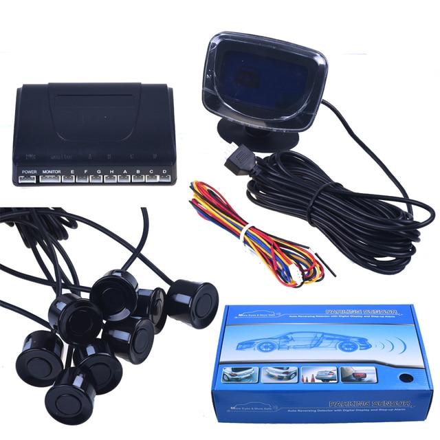 Car Parking Sensor Reverse Backup Radar LCD Display 12V 8 Sensors 22mm voice Auto Detector System Kit for All Cars