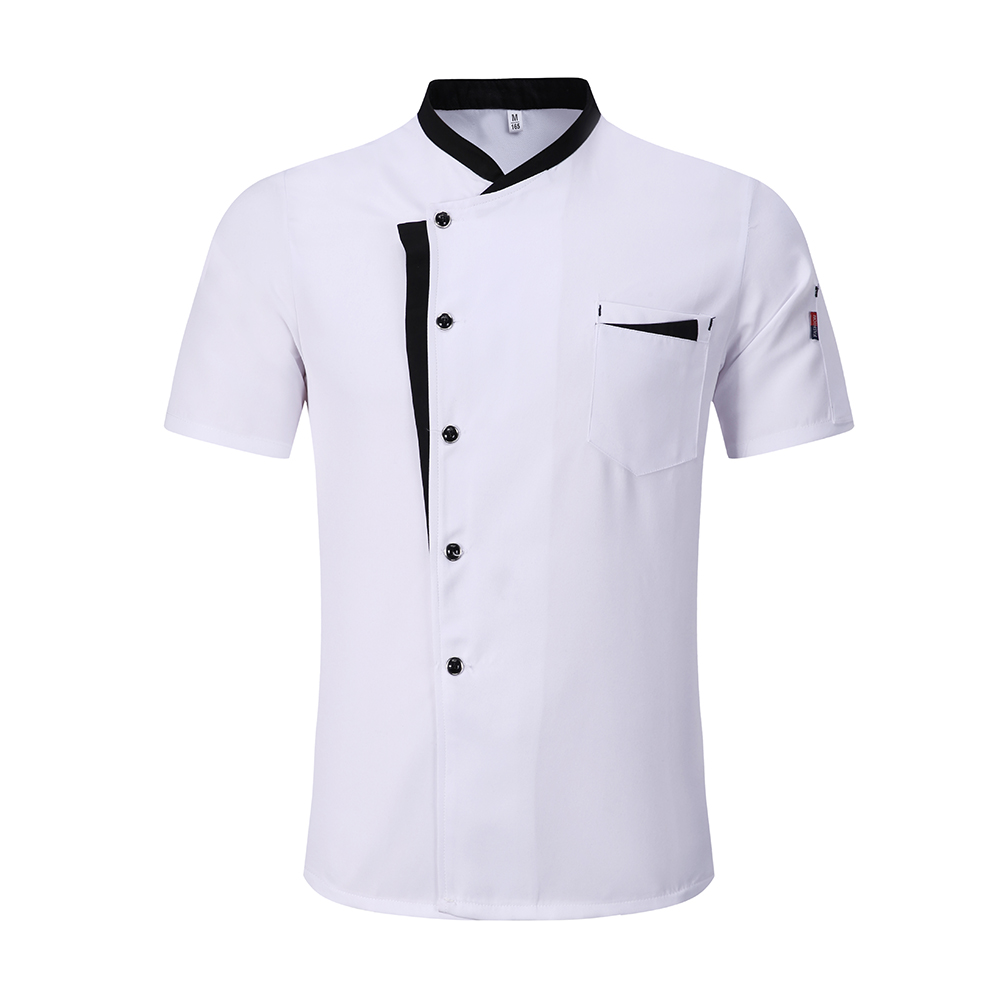 High Quality M-3XL Wholesale Unisex Kitchen Cooker Chef Uniforms Bakery Food Service Short Sleeve Breathable Chef Jacket & Apron