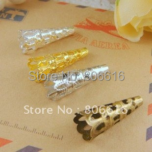 22*8MM 600Pcs (Silver/Gold/Nickel/Bronze) Horn Flowers Metal Bead Caps DIY Jewelry Findings/Components