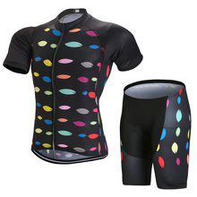 2017 Pro Short Sleeve Cycling Jersey Sets Color Spot Cycling Kits Quick Dry Breathable Bike Wear Racing Bike Clothing/Gel Pad цена