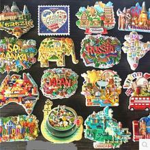 цена на (5 pieces / lot)Colorful countries around the world souvenir souvenir refrigerator stickers