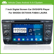 Android 4.4.4 System Car DVD/GPS player for Skoda Octavia Fabia Laura,Speed 3G, enjoy the Built-in WiFi