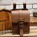 New Vintage Leather Mens Belt Bags Small Waist Pack Mobile Phone Case Runny Waterproof Belt Waist Bags