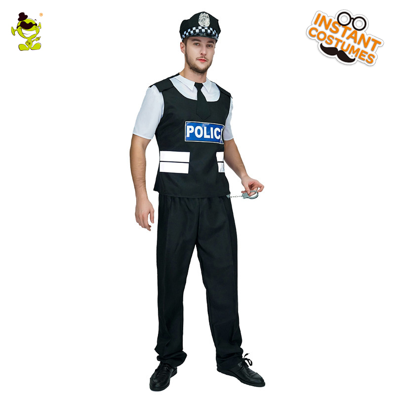 Adults Men Police Cosplay Costume Male Halloween Costume New Arrival Police COS Costume Halloween Cosplay Disfraces chic buttoned skinny women s police cosplay costume