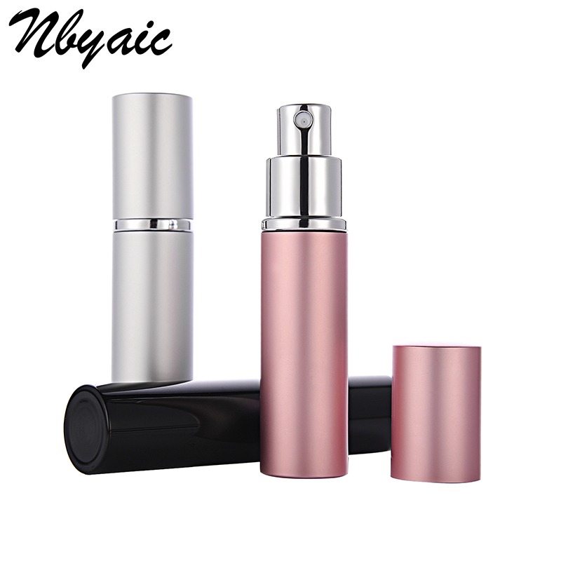 Nbyaic 5ml / 10ml Portable Aluminum Rechargeable Perfume Bottle Travel Container With Empty Containers Perfume Bottle