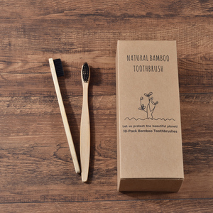 Image 4 - Custom LOGO 300 Pack Soft Bristles Toothbrush  Bamboo Toothbrush cepillo dientes Natural Eco Bamboo Fibre Bamboo Toothbrush