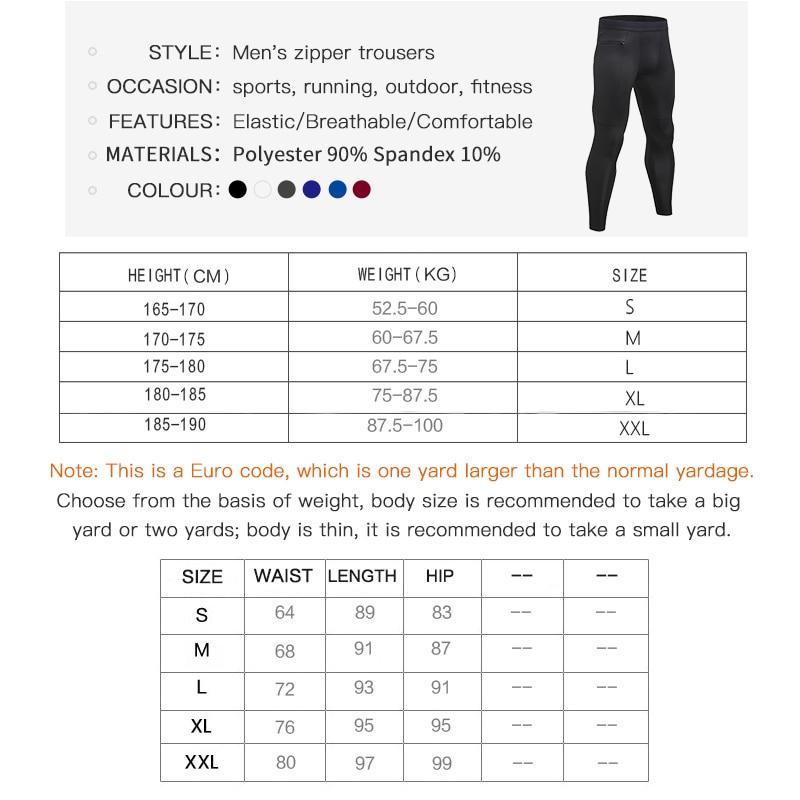Design New Zipper Pocket Pants For Men Quick Dry Jogging Gym Fitness Clothing Training Sport Trouser Running leggings in Running Pants from Sports Entertainment