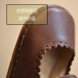 Image 3 - 2017 wiosna jesień dziewczyny Vintage skórzane buty wypoczynek dziecko Toddle buty miękkie dzieci skórzane buty dla dzieci pojedyncze buty
