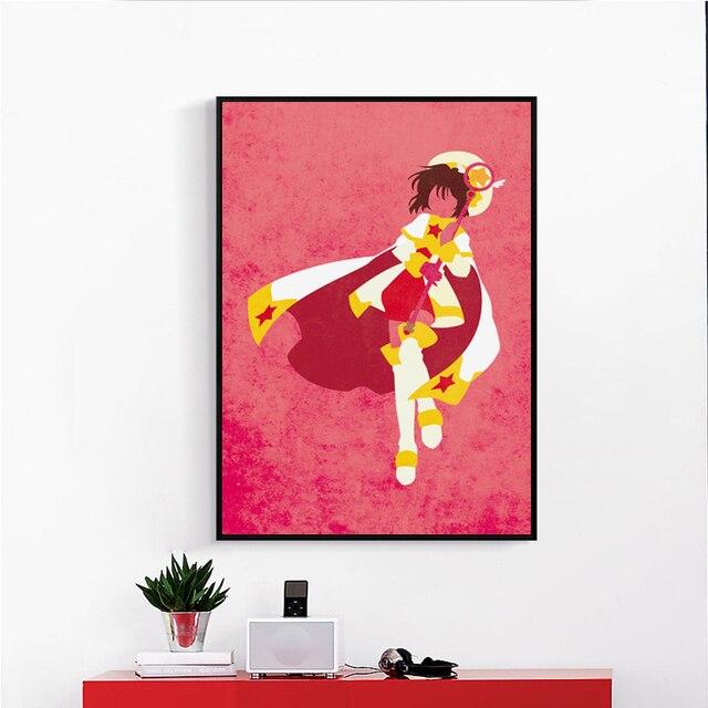 Card Captor Sakura Populaires Japonais Anime Toile Peinture Art  Du0027impression Du0027affiche Image