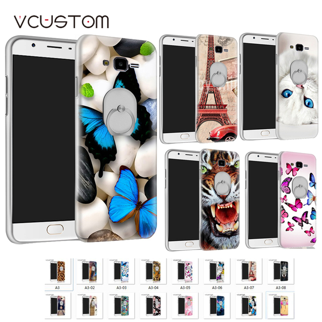 vcustom 360 ring holder  white hard case for Samsung Galaxy S3 Siii Neo i9300 i9301 Duos i9300i GT-i9300 GT-i9301 i9305 GT-i9305