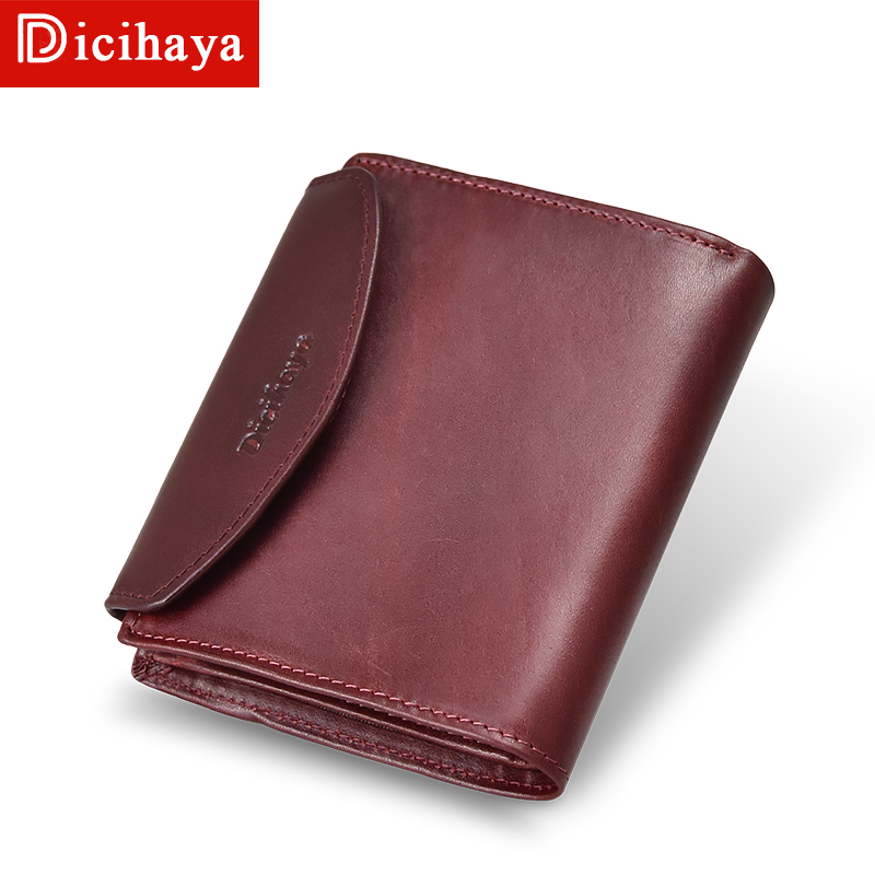 DICIHAYA Vintage Women Wallets Small Wallet Women Short Genuine Leather Women Wallets Purses Portefeuille Female Purse Clutch