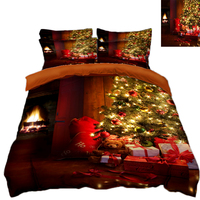 Christmas tree gift 3D bedding set bedsheet Duvet Pillowcase bed cover Twin king size Queen Bed Linen Home decorate Textiles