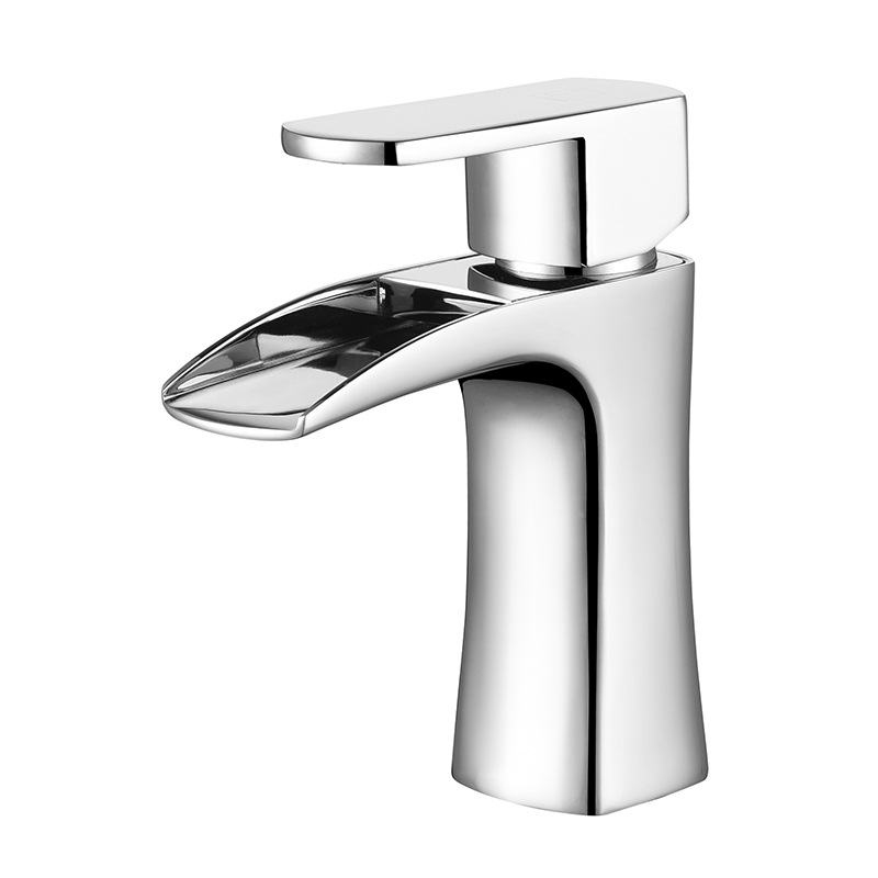 Mitigeur salle de bain robinet pont monté eau chaude et froide robinet évier robinets de bassin en laiton robinets de bassin en laiton Chrome