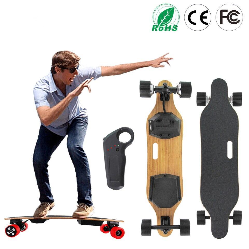 Planche à roulettes électrique de Longboard de bois d'érable de 7 couches extérieures de Style de 2017 pour l'adulte ou les enfants batterie de Samsung de moteur de Hub de 83mm