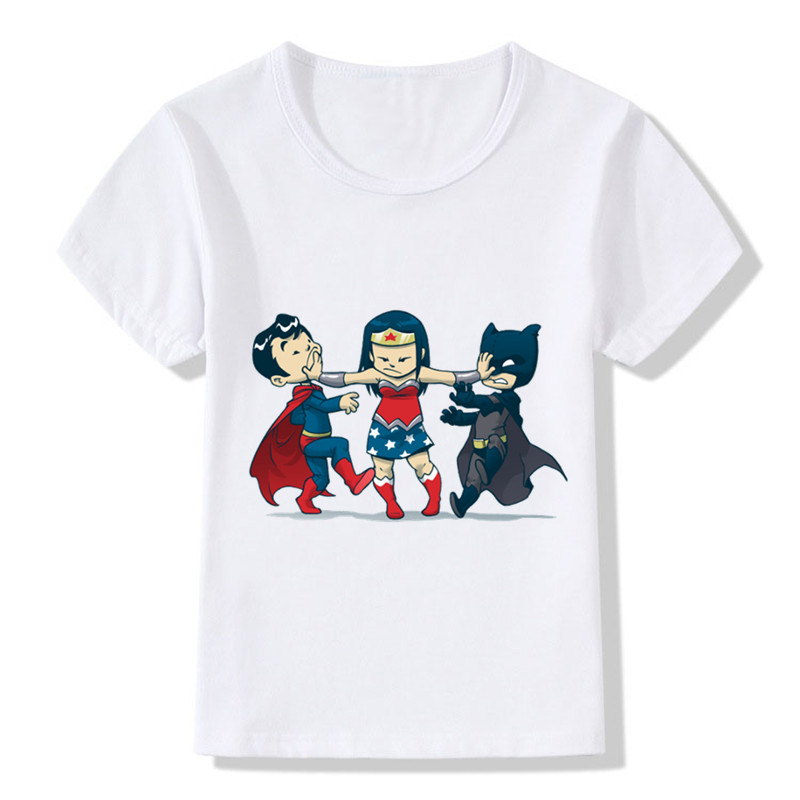 2018 Cute Super Childish Print Children Funny Super Hero T-shirt Summer Tops Boys/Girls Clothes Casual Baby Kids T shirt,HKP2233 funny print raglan sleeves t shirt