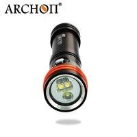 ARCHON D15VP Diving Flashlight Diving Light White/Red 3pcs CREE XM L2 U2 1300 lumens 110 /30 degree by 18650 Battry