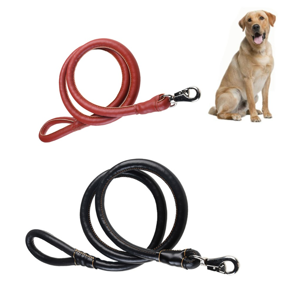 A53 New PU Leather Pet Dog Leashes 180CM Large Dog Training Leash Lead Strap Rope Labrador German Adjustable Traction Leash
