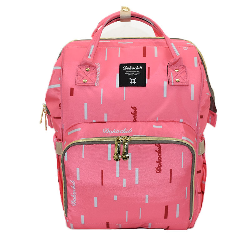 Oxford Material Geometric Pattern Printed Diapering & Toilet Training Bags Baby&Mother Zipper Backpack
