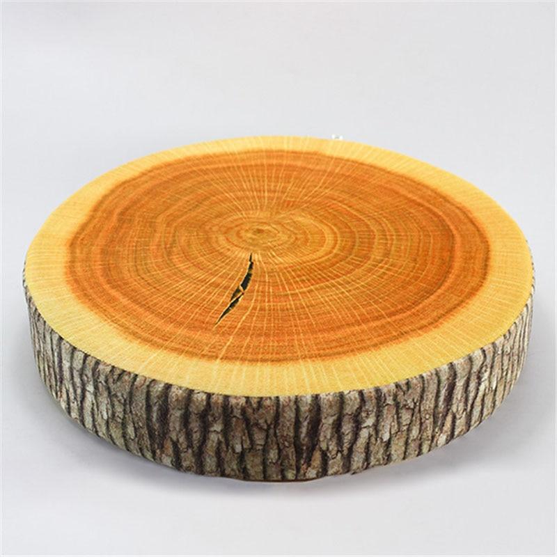 HOT sale pastoral style nyomtatott növény kerek kreatív fa stump fa kanapé és autó ülés Párna párnák 35cm * 35cm * 8cm