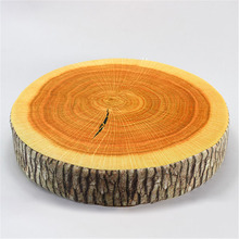 HOT sale pastoral style printed plant round creative Tree Stump Wood Sofa and Car seat Cushion Pillows 35cm*35cm*8cm