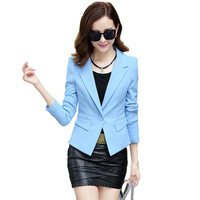 2017 Autumn Fashion Women 4 Colors Slim Fit Blazer Jackets Notched Full Sleeve Blazer Women Coat
