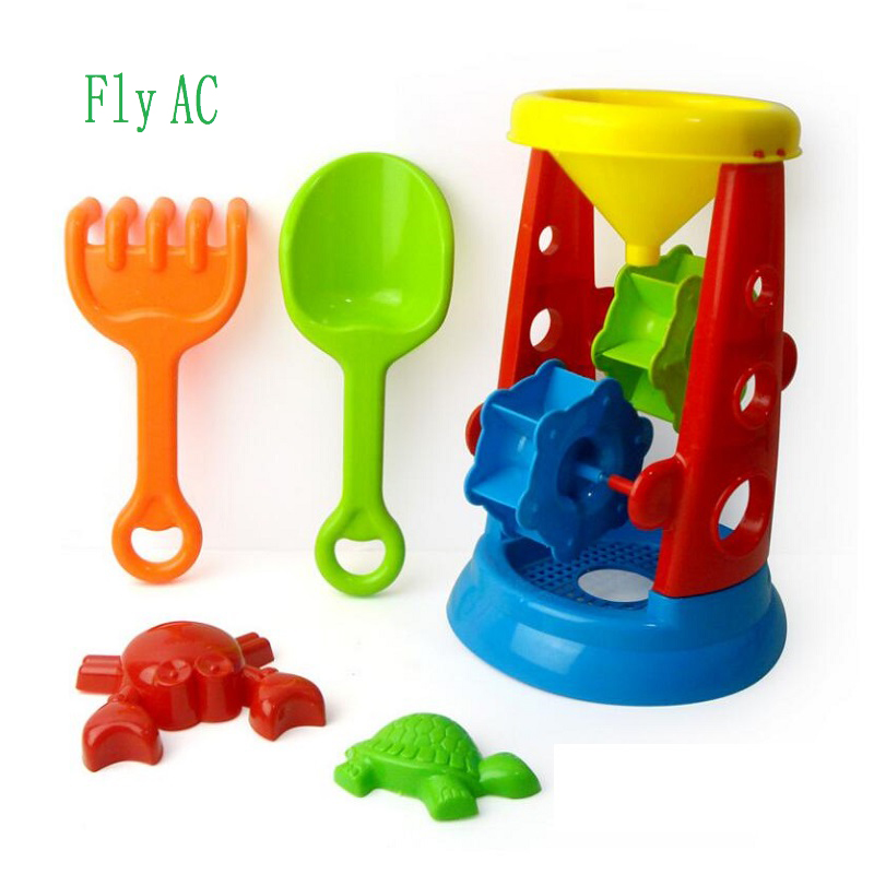 Fly AC 5 Pcs/set Kids Beach Toys,Play Sand Tool Set,Children's Birthday Gift