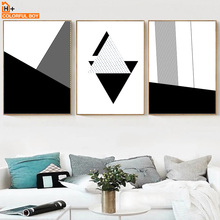 Geometric Stripes Abstract Wall Art Canvas Painting Nordic Posters And Prints Black White Pictures For Living Room Decor