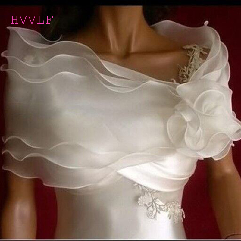 Off Shoulder Cheap White Bridal Wrap Beach Sheer Garden Wedding Bridal Jacket Cheap Wedding Shawl