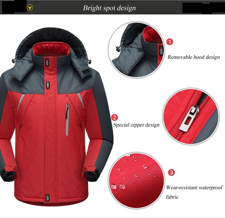 HTB1Qz RcQfb uJkHFNRq6A3vpXaR Jacket Men Winter Thick Fleece Waterproof Outwear Military Jackets Plus size 5XL Men's Windbreaker Army Parka Raincoat  Coats