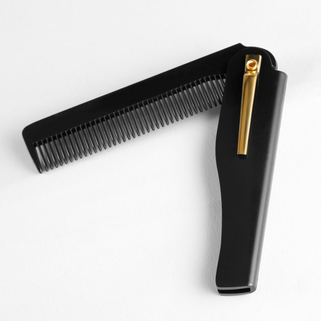 Men Pro hairbrushes Comb Brush Handmade Folding Clip Foldable Portable Travel Hair Moustache Beard Combs hairHairdressing Tools
