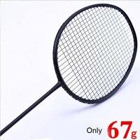 1 PC ZARSIA 7U 67g G6 ULTRA LIGHT Black Badminton Racket Badminton Racket Quality Carbon Racket