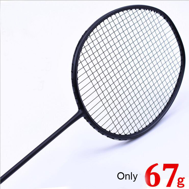 1 PC ZARSIA 7U 67g G6 ULTRA LIGHT black Badminton racket, Badminton Racket quality carbon racket 28LBS