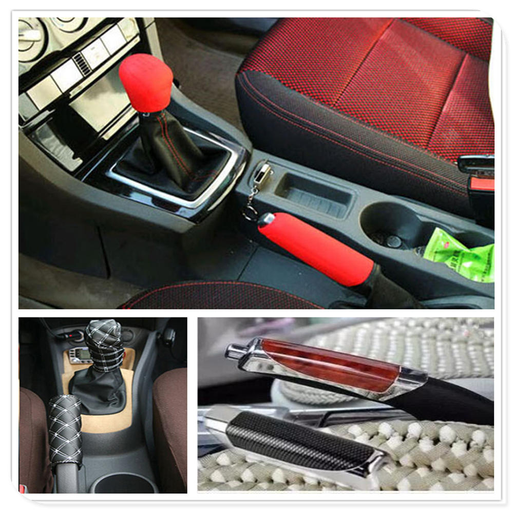 Car Suv Rubber Gear Shift Knob Handbrake Cover For Nissan TEANA QASHQAI BLUEBIRD SUNNY TIIDA PALADIN Geniss Juke X-Trail