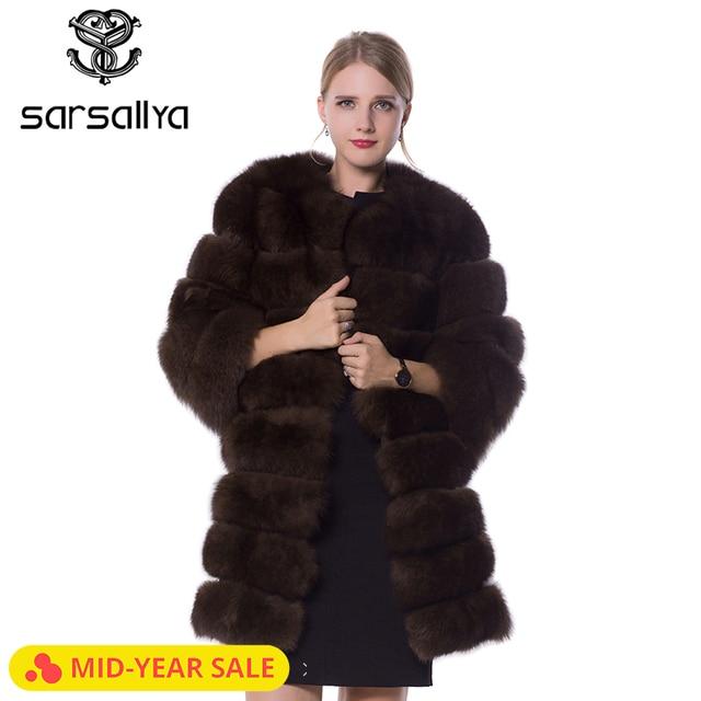 Women Fur Coat Winter Real Fox Fur Coat Ladies Detachable Sleeves Vest Blue Fox Female Jackets Coats Plus Size Clothes 2019 New