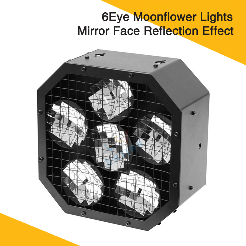 New Product 20w 6 Eye Moonflower Lights Mirror Face Reflection Effect Stage Lights For Party Disco DJ