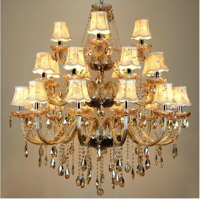 Free Shipping Large crystal chandelier 24 Arms crystal light  Fashion chandelier crystal light Modern Large chandelier