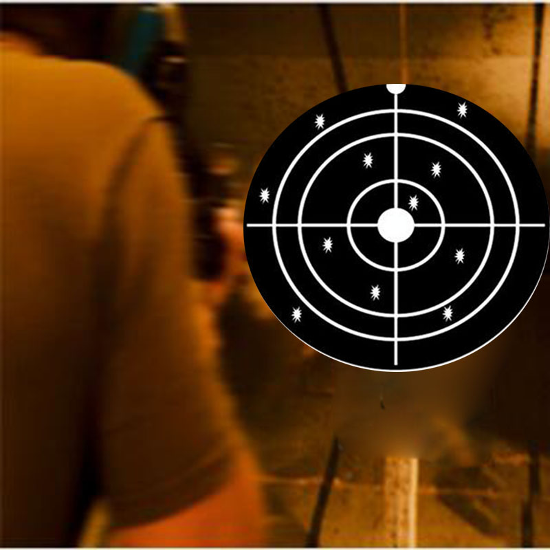 Splatter paper target for shooting Instantly See Your Shots Burst Bright Florescent white Upon Impact in Wallpapers from Home Improvement