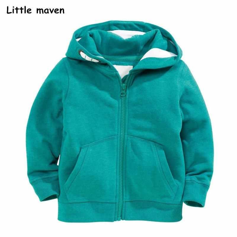 2ac20deb932 Little maven 2018 на осень-зиму мальчиков брендовая одежда Детские толстовки  и кофты для