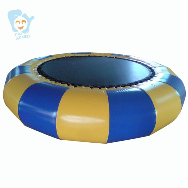 Dia 3 m Gonflable Eau Trampoline Air Videur Gonflable Bungee Trampolines Mer Flottant Trampoline De La Chine