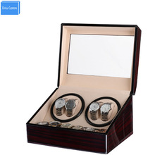 Glossy Wooden Velvet Automatic Horloge Watch Winder Box Watches Winders Shipping Uhrenbeweger Remontoir Montre Automatique