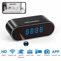 Clock Mini Camera 1080P HD micro camera espia wifi camera Security Night Vision Motion Detection wifi Secret Camera gizli kamera
